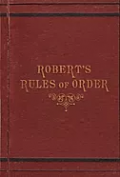 Robert's Rules of Order. Opens new window.